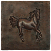 Copper Tile (TL343) Running Horse Design *free shipping*