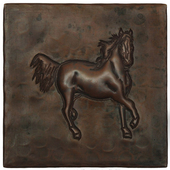 Running Horse design copper tile