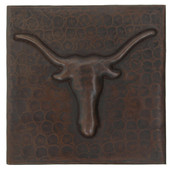 Copper Tile (TL349) Longhorn Design *free shipping*