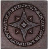 Compass Design Copper Tile TL353