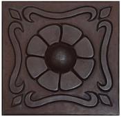 Button Floral Design Copper Tile TL354