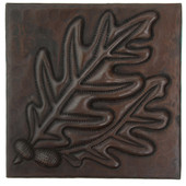 Acorns with leaves design copper tile