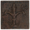 Sportsman Fleur De Lis design copper tile