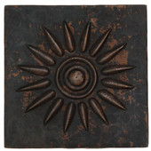 Sun Burst design copper tile