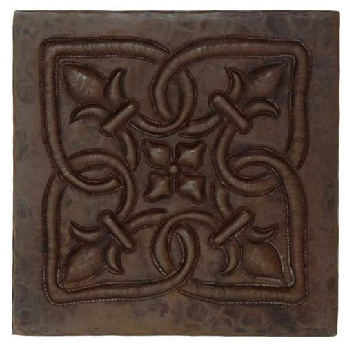 Infinity Fleur De Lis design copper tile