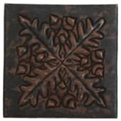 Acorn/Leaf Medallion Design Copper Tile TL369