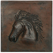 Copper Tile (TL371) Stallion Head Design *free shipping*