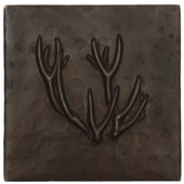 Copper Tile (TL372) Deer Antlers Design *free shipping*