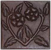 Copper Tile (TL406) Floral Vine Design *free shipping*