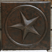 Texas Star design copper tile