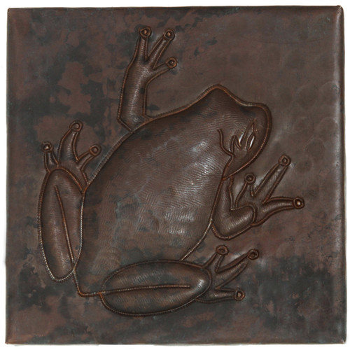 Tree Frog design copper tile