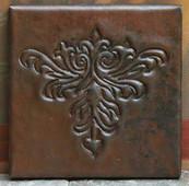 Arts & Crafts Design Copper Tile TL415
