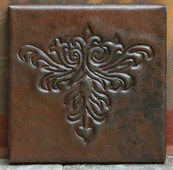 Copper Tile (TL415) Arts & Crafts Design *free shipping*