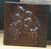 Copper Tile (TL416) Grape Clusters Design *free shipping*