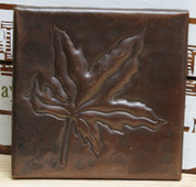 Copper Tile (TL419) Chinese Maple Leaf Design *free shipping*