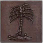 Coconut Tree design copper tile