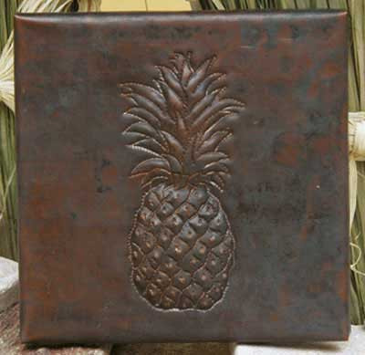 Pineapple design copper tile