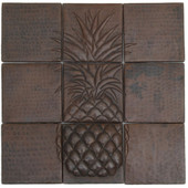 Pineapple Mosaic design copper tile