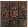 Lion head mosaic design copper tile
