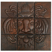 Lion head mosaic design copper tile