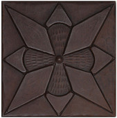 Copper Tile (TL431) Diamond Floral Design *free shipping*