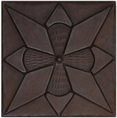 Diamond Floral design copper tile