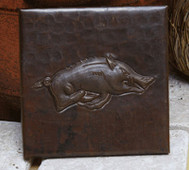 Copper Tile (TL436) Wild Boar Design *free shipping*