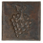 Grape design copper tile
