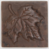 Maple Leaf design copper tile