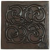 Copper Tile (TL602) Swirl Medallion Design