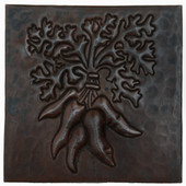 Carrot bunch design copper tile