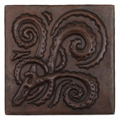 Whirly gig swirl design copper tile