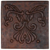 Abstract Fleur design copper tile