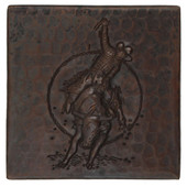 Copper Tile (TL711) Rodeo Design *free shipping*