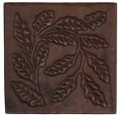 Copper Tile (TL714)  Ferns Together Design *free shipping*