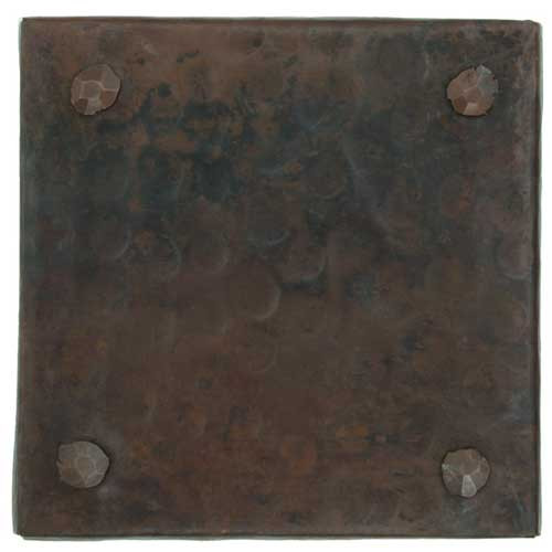 Rivet design copper tile