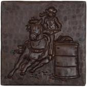 Copper Tile (TL716) Barrel Racing Design