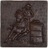 Barrel Racing design copper tile