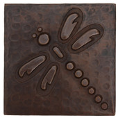 Copper Tile (TL808) Dragonfly Design