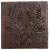 TL851 Wheat Tile in hammered copper