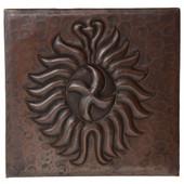 Celtic Sun Design Copper Tile TL854