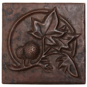 Copper Tile (TL861) Tree & Ferns Design *free shipping*