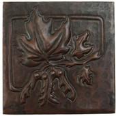 Copper Tile (TL863) Maple Square Design *free shipping*