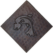 Abstract Fish Design Copper Tile TL864