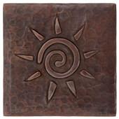 Copper Tile (TL870) Reverse Infinity Sun Design