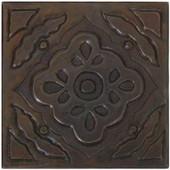 Copper Tile (TL904) Floral Mosaic Design