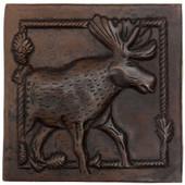 Copper Tile (TL954) Moose Design *free shipping*