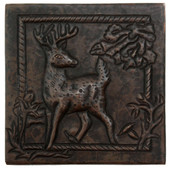 Deer Scene design copper tile