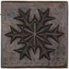 Snowflake Medallion design copper tile