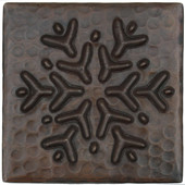 Copper Tile (TL964) Reindeer Snowflake Design *free shipping*
